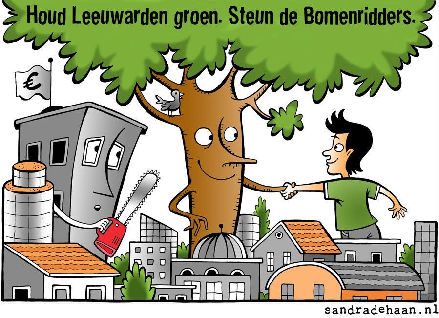 Houd Leeuwarden groen. Steun de bomenridders